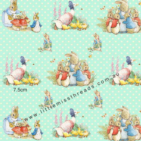 PRE ORDER Peter Rabbit in Mint Fabric