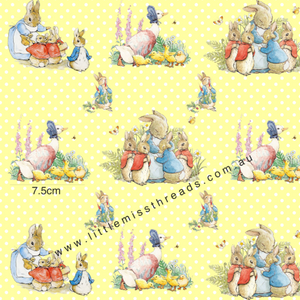 PRE ORDER - Peter Rabbit in Yellow - Fabric