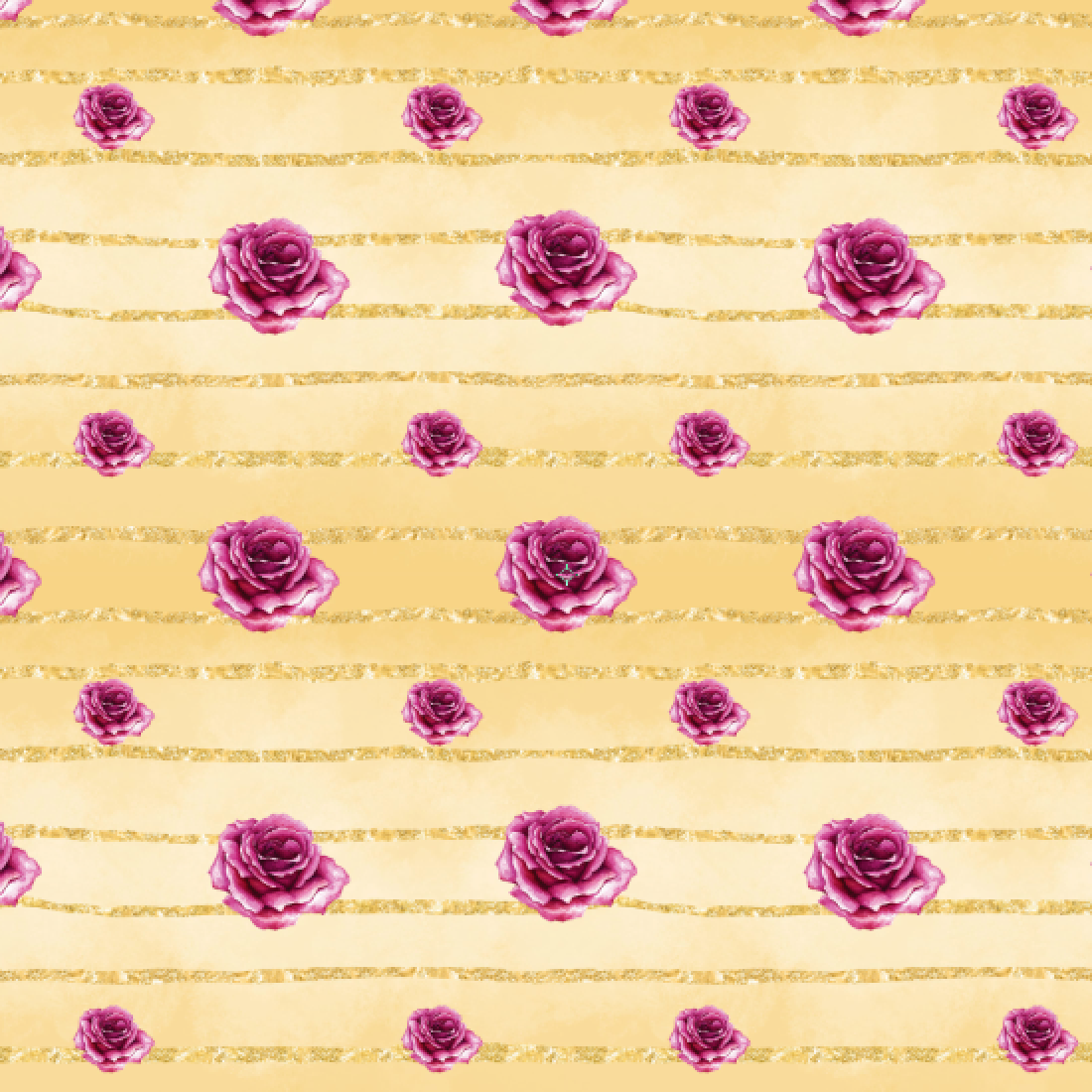 PRE ORDER - Beauty & Beast Gold Roses - Digital Fabric Print