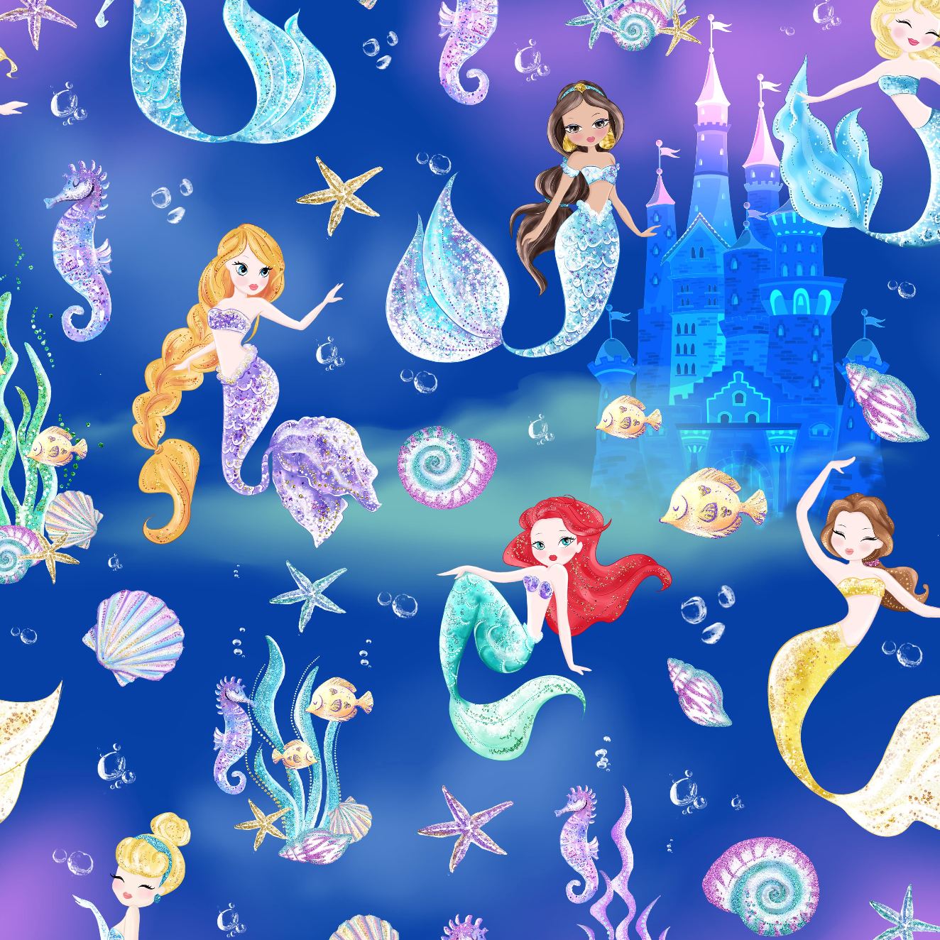 PRE ORDER Mermaid World Castle Fabric