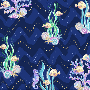 PRE ORDER Mermaid World Under the Sea Fabric