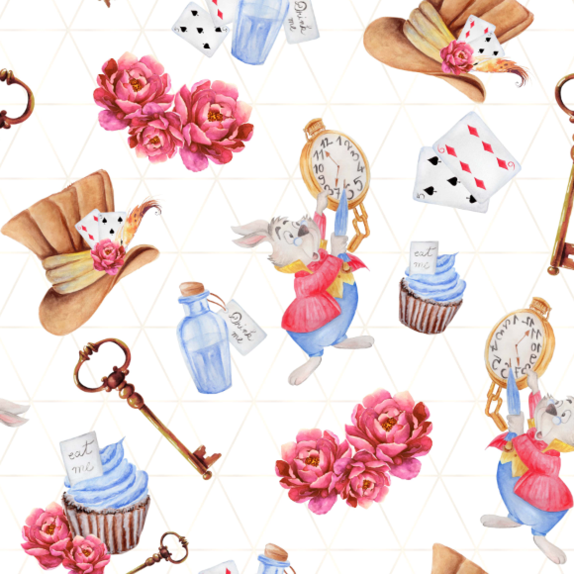 PRE ORDER Alice White Rabbit Fabric