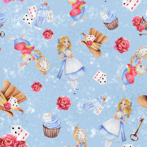 PRE ORDER Alice Main Blue Fabric