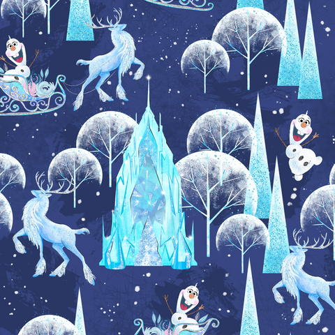 PRE ORDER - Frozen Olaf - Digital Fabric Print