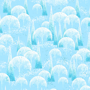 PRE ORDER - Frozen Forest Blue - Digital Fabric Print