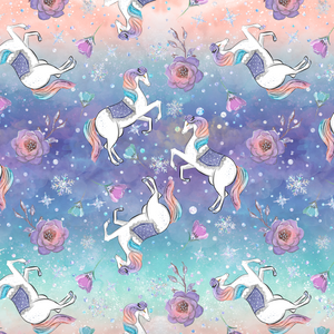PRE ORDER - Frozen Unicorns Main Multi - Digital Fabric Print