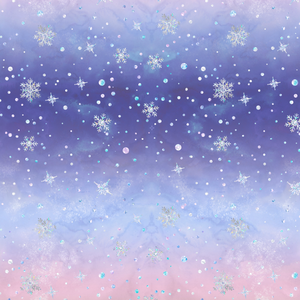 PRE ORDER - Frozen Unicorn Snowflakes - Digital Fabric Print