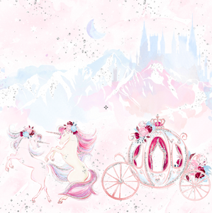 PRE ORDER - Christmas Unicorn Border - Digital Fabric Print