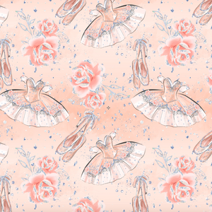 PRE ORDER - Nutcracker Ballerinas Coral - Digital Fabric Print