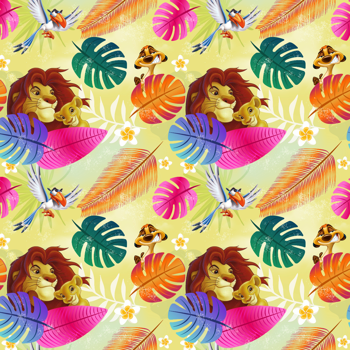 PRE ORDER - Lion King Yellow - Digital Fabric Print