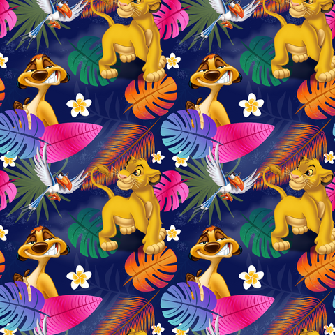 PRE ORDER - Lion King Navy - Digital Fabric Print