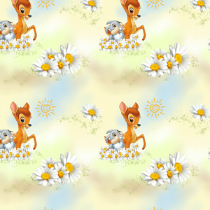 PRE ORDER - Bambi Main Yellow - Digital Fabric Print