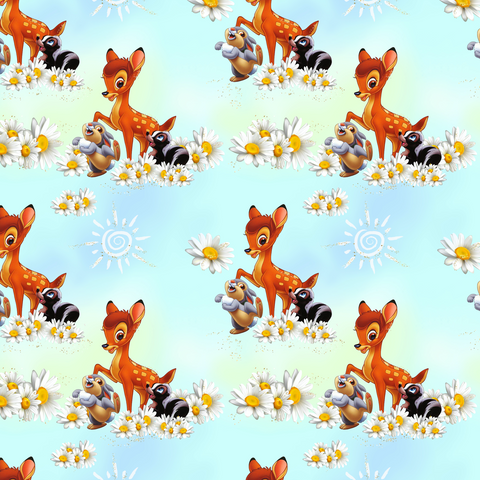 PRE ORDER - Bambi Main Blue - Digital Fabric Print