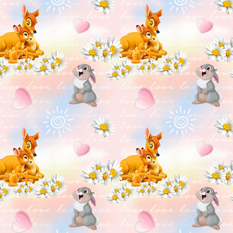 PRE ORDER - Bambi Main Pink - Digital Fabric Print
