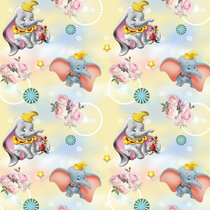 PRE ORDER - Dumbo Yellow - Digital Fabric Print
