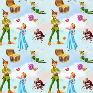 PRE ORDER - Peter Pan Light Blue - Digital Fabric Print