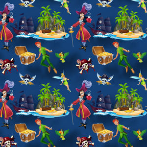 PRE ORDER - Peter Pan Navy - Digital Fabric Print