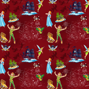 IN STOCK - Peter Pan Red - WOVEN COTTON