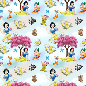 PRE ORDER -  Snow White Light Blue - Digital Fabric Print
