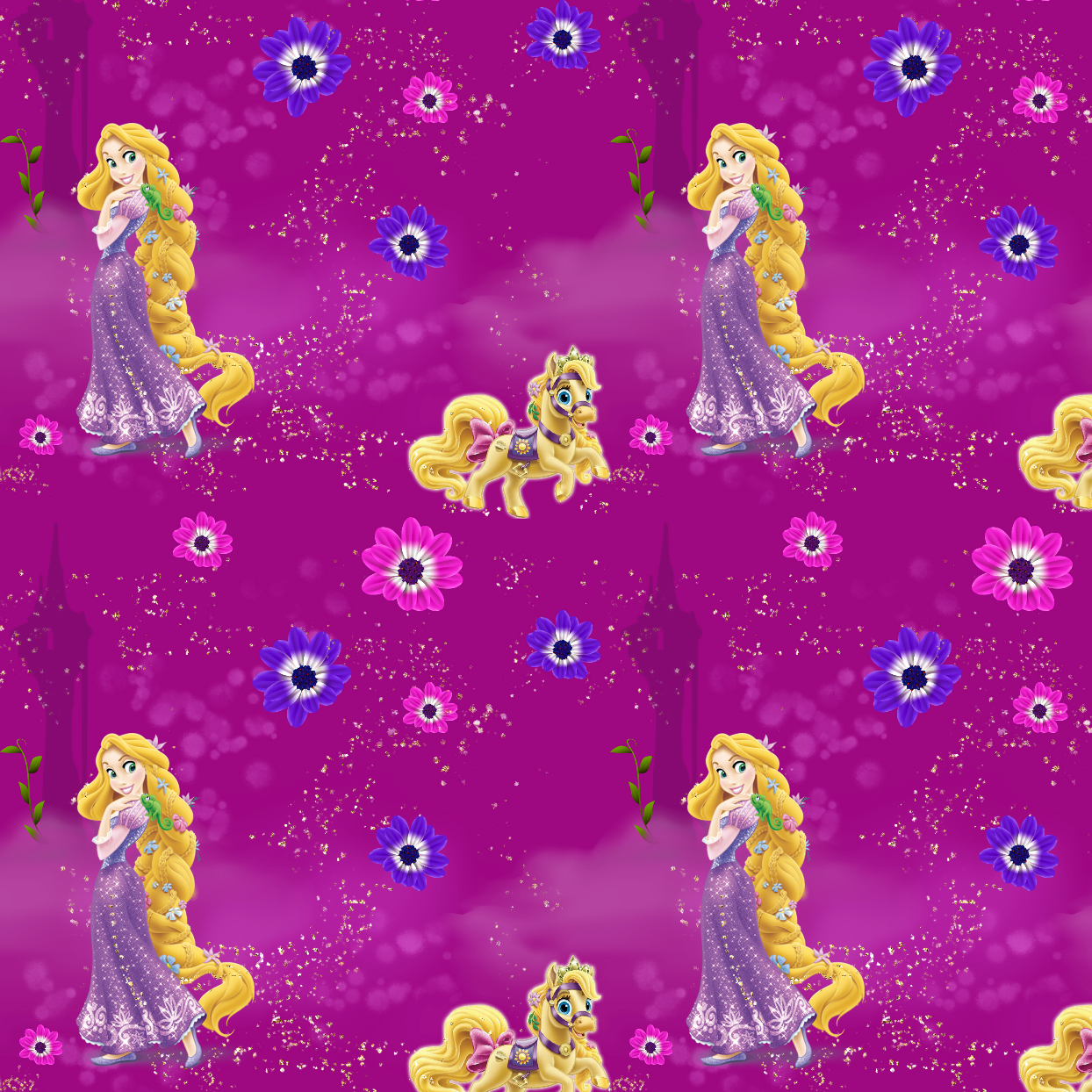 PRE ORDER -  Tangled Light Purple - Digital Fabric Print