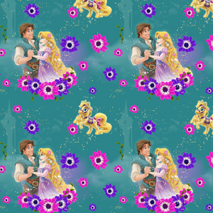 IN STOCK -  Tangled Green - Digital Fabric Print