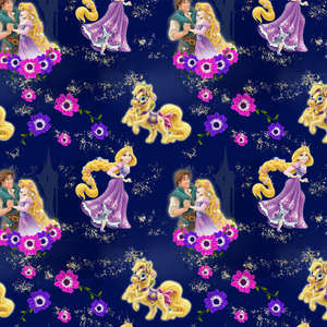 PRE ORDER -  Tangled Navy - Digital Fabric Print