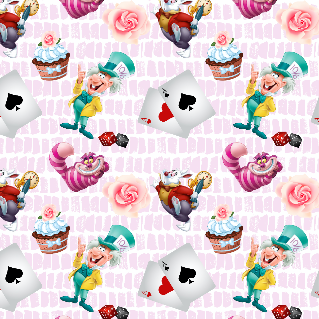 PRE ORDER - Wonderland Main Pink - Digital Fabric Print