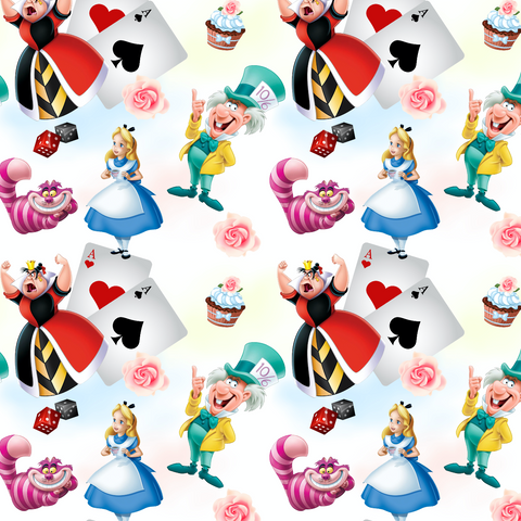 PRE ORDER - Wonderland Main White - Digital Fabric Print