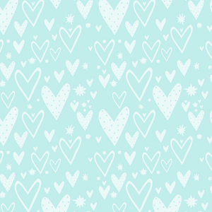 PRE ORDER - Wonderland Green Hearts - Digital Fabric Print