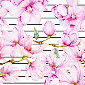 PRE ORDER - Magnolia Black Stripe - Digital Fabric Print