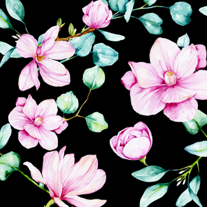PRE ORDER - Magnolia Black - Digital Fabric Print