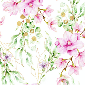 PRE ORDER - Magnolia White - Digital Fabric Print