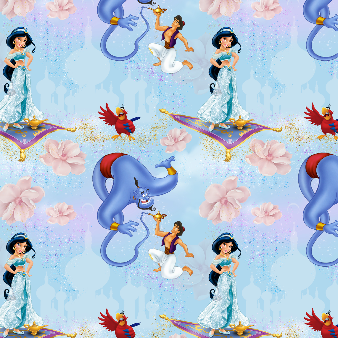PRE ORDER - Aladdin Light Blue - Digital Fabric Print