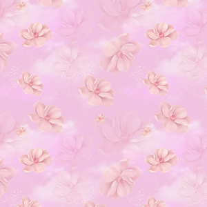 IN STOCK - Aladdin Pink Floral - WOVEN COTTON