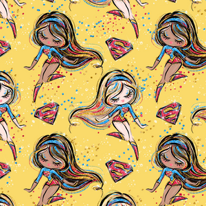 PRE ORDER - Superhero Super Girl - Digital Fabric Print