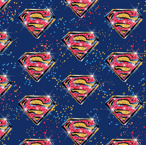 PRE ORDER - Superhero Super Girl Logo - Digital Fabric Print