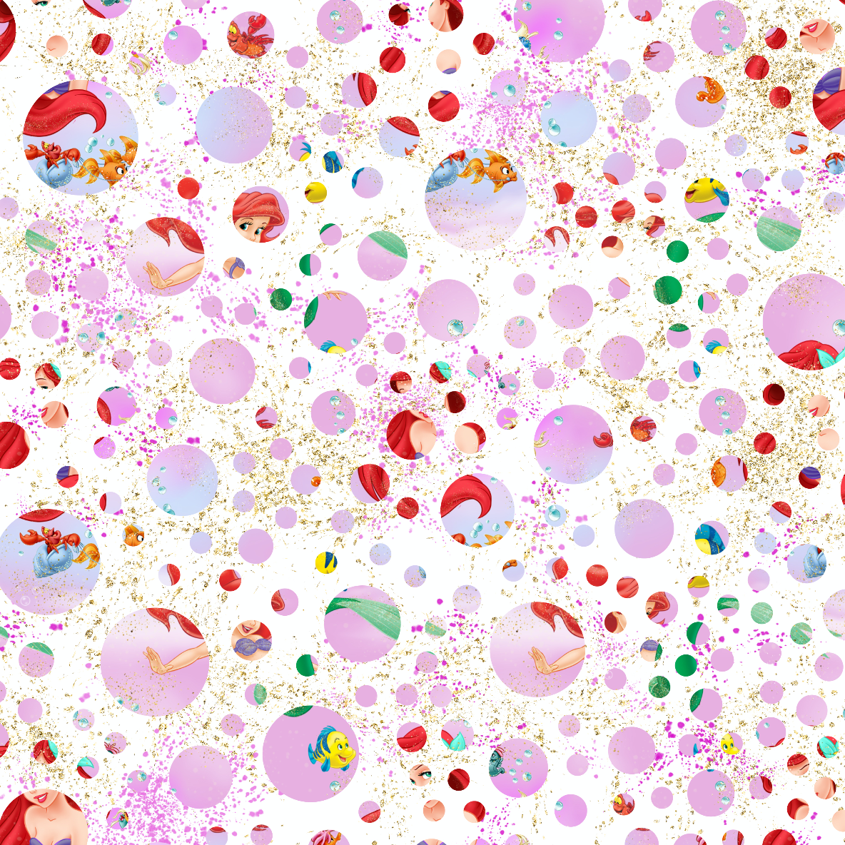 PRE ORDER - Whole new world Dots - Digital Fabric Print