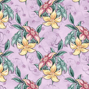 PRE ORDER - Phantasia Purple Flowers - Digital Fabric Print