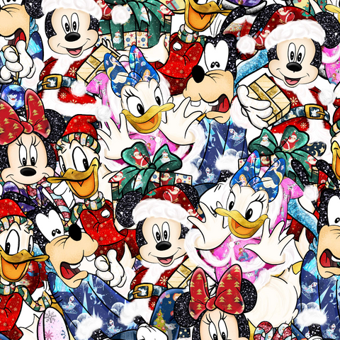 PRE ORDER - Mickeys Christmas Scattered - Digital Fabric Print