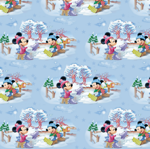 PRE ORDER - Mickeys Winter Snow - Digital Fabric Print