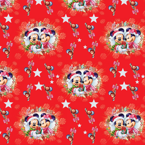 IN STOCK - Mickeys Winter Red - WOVEN COTTON