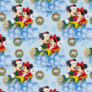 PRE ORDER - Mickeys Winter Snowflakes - Digital Fabric Print