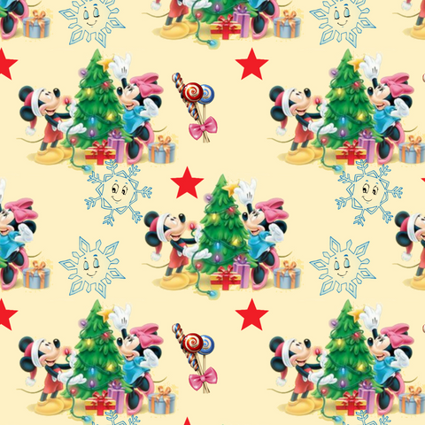 PRE ORDER - Mickeys Winter Yellow - Digital Fabric Print