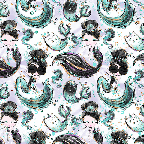 PRE ORDER - Audrey Mermaids - Digital Fabric Print
