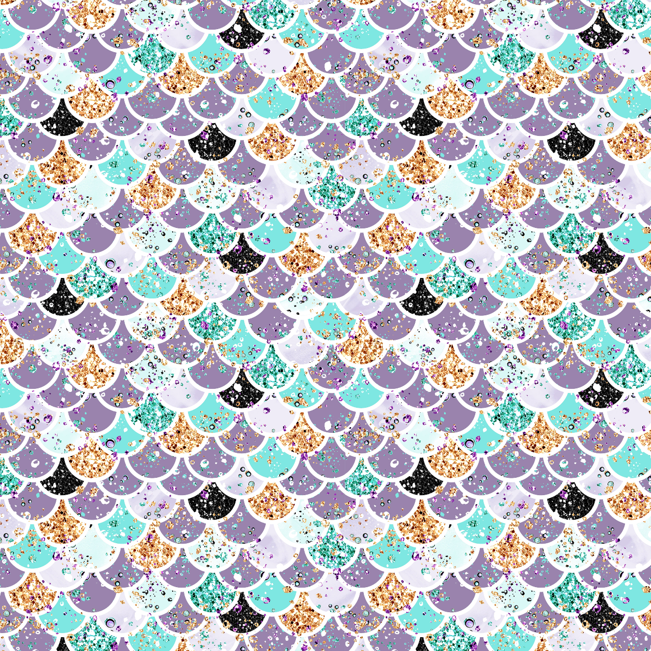 PRE ORDER - Audrey Scales Purple - Digital Fabric Print