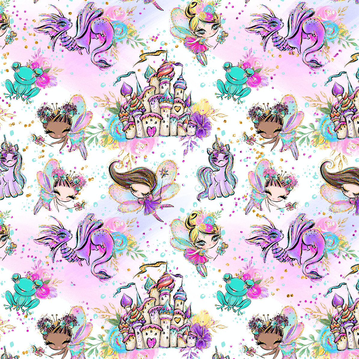 PRE ORDER - Land of Magic White - Digital Fabric Print