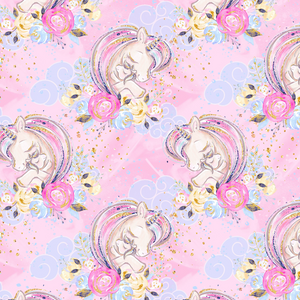 PRE ORDER - Carnival Unicorns Pink - Digital Fabric Print