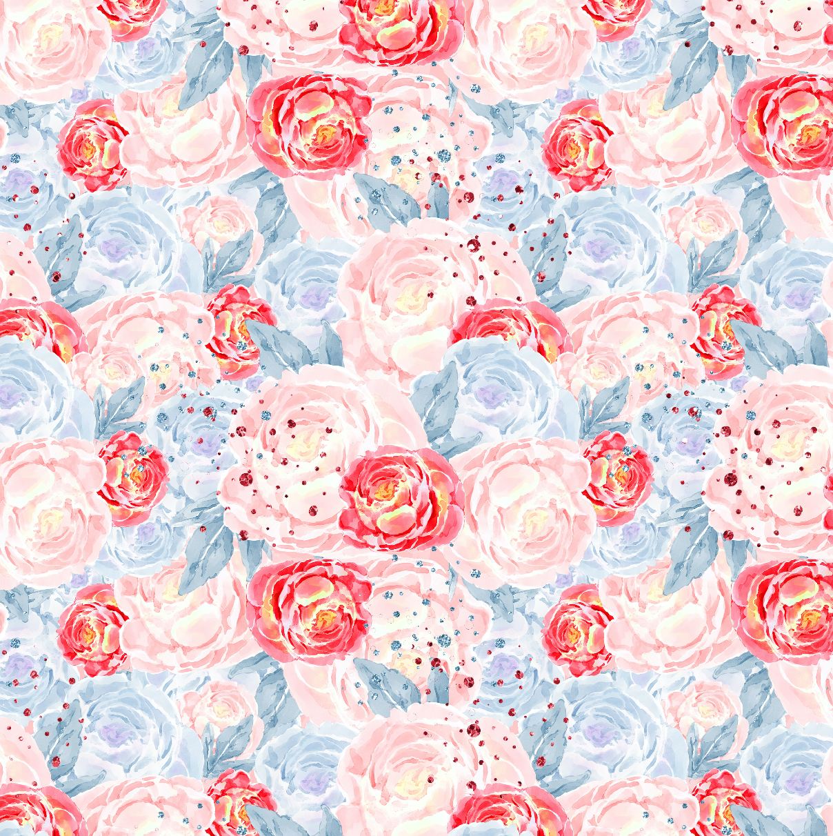 PRE ORDER - Mary Poppins Pink Floral - Digital Fabric Print