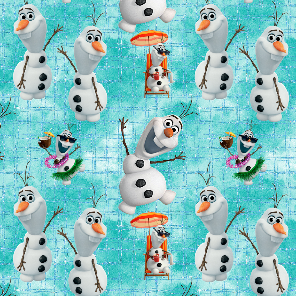 PRE ORDER - Frozen 2 Olaf - Digital Fabric Print