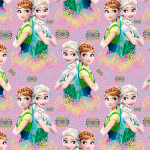 PRE ORDER - Frozen 2 Anna and Elsa - Digital Fabric Print